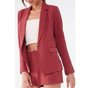 Forever 21 Linen Blazer and Short Set Co-Ord S/M